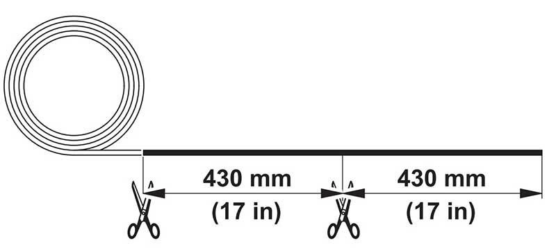 Stihl brand max length trim line 4 strings Cut Length