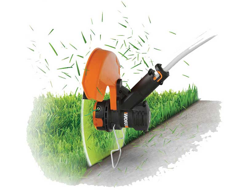 String trimmer for grass edging