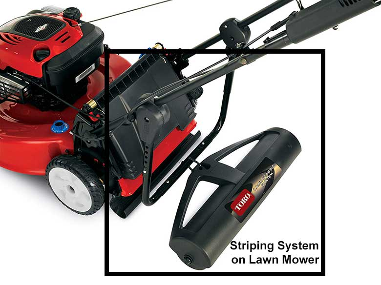 lawn-mower with striping system
