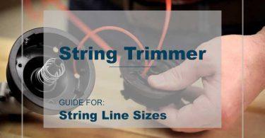 string trimmer line sizes