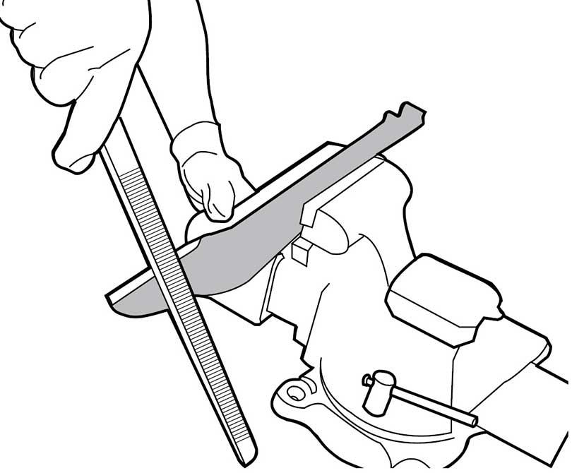 Sharpening Blade with mill bastard file