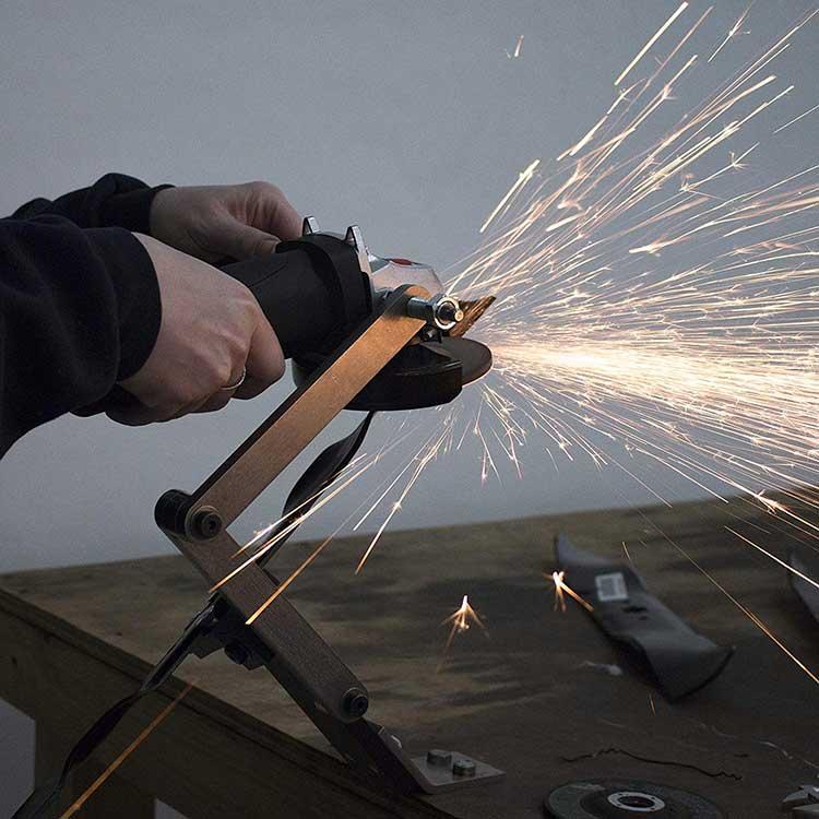 angle grinder lawn mower blade sharpening