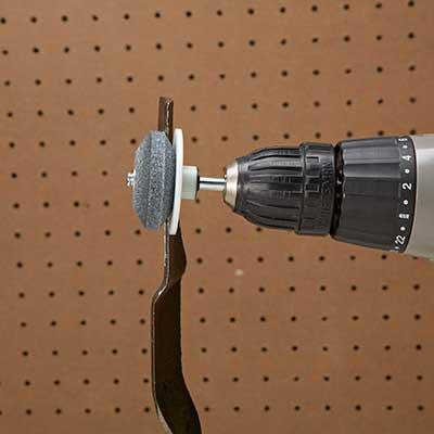 drill attachment for blade sharpen